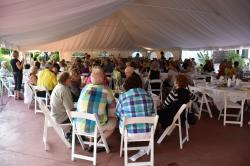 Guests Fill the Tent
